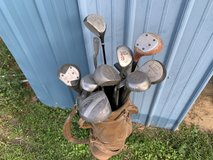 Assorted left hand golf clubs in DeRidder, Louisiana