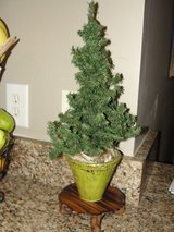 "CUTE 13"" CHRISTMAS MINI TREE WITH VASE 17"" TALL in Camp Lejeune, North Carolina"