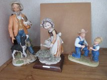 3 different Porcelain Figurines (Man with Springer Spaniel), in Conroe, Texas