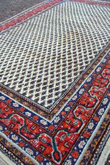 Old hand-knotted Indian Mir Carpet Rug about 300 X 200 cm ( 118 x 80 cm) in Wiesbaden, GE
