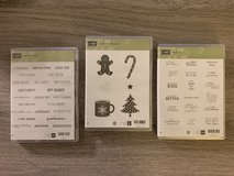 Stampin' Up Cling Stamps - 3 sets in Chicago, Illinois