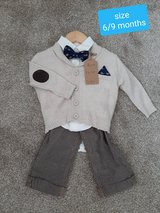 Boys brand new tags size 6/9 months Boutique outfit in Morris, Illinois