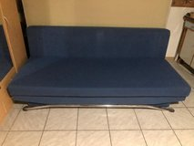 Two piece blue couch also a bed in Ramstein, Germany