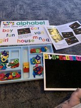 Alphabet fuzzy felt in Lakenheath, UK