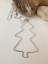 ECLECTIC STERLING SILVER FREE-FORM CHRISTMAS PENDANT/EARRING SET in Sugar Grove, Illinois