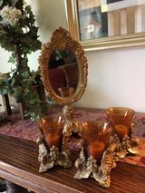 4 PIECE MATCHING SET 3 VOTIVE CANDLES AND MIRROR FOR BATHROOM OR BEDRO in Plainfield, Illinois