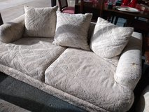 White Textured Loveseat in Chicago, Illinois