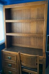 Wood desk with drawers shelf in Sugar Grove, Illinois