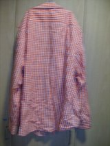 Men's George Long Sleeve Orange Plaid Shirt (T=43) in Clarksville, Tennessee
