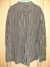Men's George Long Sleeve Black/Silver Strips Shirt (T=43) in Clarksville, Tennessee