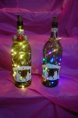 Decorative Nativity lighted bottle in Chicago, Illinois
