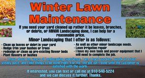 If you need any Fall / Winter lawn maintenance done, then I can help ???? ?? ?? ?? ?? ?? in Camp Lejeune, North Carolina