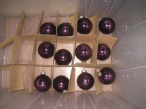 Set of 12 Glass Purple Christmas Ornaments in Clarksville, Tennessee