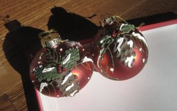 2 Unique Christmas Ornaments with Pinecones Leaves in Clarksville, Tennessee