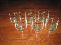 6 Cristal d'Arque Juice Old Fashion Christmas Tree Glasses w/ Teddy Bear, Rocking Horse, etc in Clarksville, Tennessee