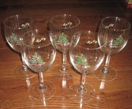 4 Cristal d'Arque Wine Water Christmas Tree Glasses w/ Teddy Bear, Rocking Horse, etc in Clarksville, Tennessee