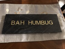 "New ""Bah Humbug"" Inlaid Black Stone Cheese Platter in Chicago, Illinois"