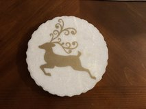 New Marble Trivet with Gold Reindeer in Chicago, Illinois