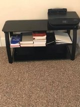 Black Glass TV stand in Beaufort, South Carolina