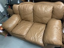 Leather couch, loveseat and chair in Kingwood, Texas
