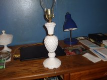milk glass lamp in Camp Lejeune, North Carolina