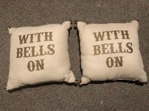 """2 Pottery Barn """"With Bells On"""" Pillows in Plainfield, Illinois"""