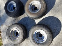 4 used Golf cart rims and tires in Camp Lejeune, North Carolina