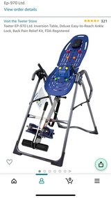 321 Teeter EP-970 Ltd. Inversion Table, Deluxe Easy-to-Reach Ankle Lock, Back Pain Relief Kit, F... in Fort Campbell, Kentucky