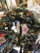 Blue Holiday Wreath in Ramstein, Germany