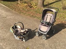 Chicco Stroller with Car Seat and Base in Fort Campbell, Kentucky