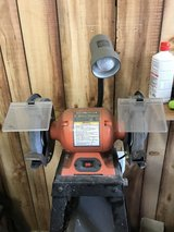 Central Machinery 8 inch Bench Grinder with Goose Neck Lamp in Wheaton, Illinois