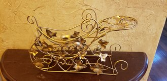 Gold Metal Candle Holder Sleigh in Naperville, Illinois