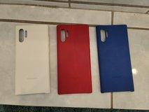 galaxy note 10+ silicone covers and 1 red leather back cover in Camp Pendleton, California