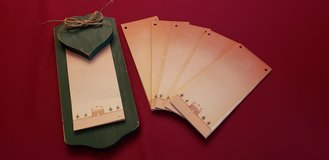 Wooden Green Christmas Note Pad with 5 Extra Refills in Naperville, Illinois