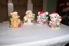 Vintage HOMCO 5180 Compete Set of 4 Christmas Animal Figurines in Kingwood, Texas