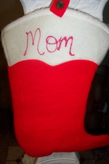 "Cowboy boot ""Mom"" Stocking in Kingwood, Texas"