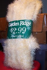 Gold and white garland in Kingwood, Texas