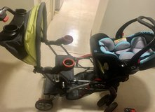 Baby trend double stroller AND infant car seat USED in Okinawa, Japan