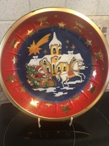 vintage tin x-mas plate in Ramstein, Germany