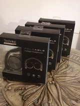 x4 NEW Technicka Blue Foldable Headphones with Microphone in Lakenheath, UK