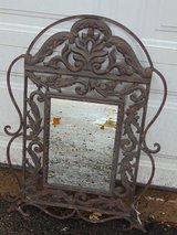 Heavy Wrought Iron Mirror with Tag in Sandwich, Illinois
