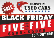 Black Friday Mega Sales event- 5 for 5 ????Ramstein used Cars in Grafenwoehr, GE