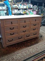 I Refurbished This Unique 11 Drawer Dresser. All wood. Shabby chic in The Woodlands, Texas