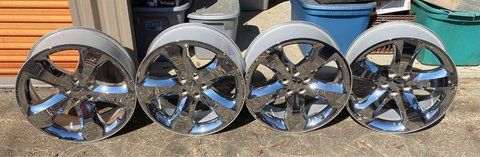 "Dodge Charger/Challenger chrome clad factory wheels 20"" in Fort Polk, Louisiana"