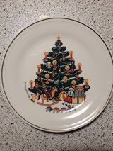 Christmas plate by Barbara Furstenhofer, West Germany in Ramstein, Germany