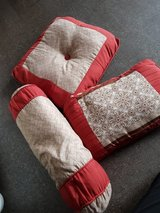 3 red decorative pillow in Okinawa, Japan