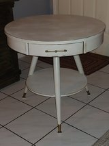 I just finished this beautiful vintage round 3 leg table. All Wood. Distressed in Conroe, Texas