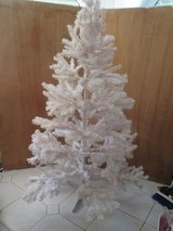 white Christmas tree in Ramstein, Germany