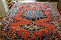 Beautiful Persian Rug CARPET hand-knotted orange & blue 337 x 240 cm(133 x 97inches) best quality in Ramstein, Germany