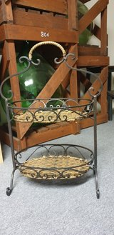 Wrought Iron and Wicker Etagere in Ramstein, Germany